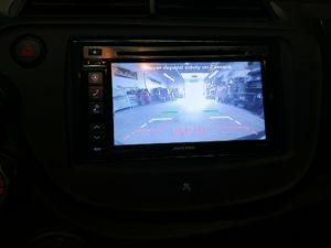 Honda Fit double din radio backup camera Oakville Mississauga Ontario