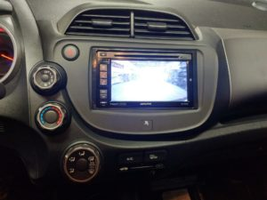 Honda Fit double din radio backup camera Oakville Mississauga Ontario