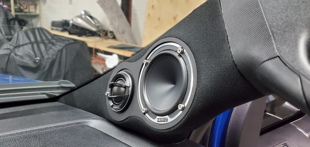 Ford F-150 a pillar speakers